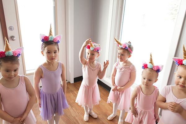 Devotion Danceworks Calgary preschool ballet class